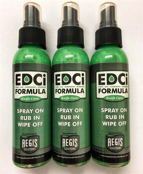 Stop Rust with our EDCi Knife Care Formula